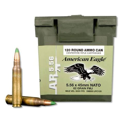 Federal American Eagle 5 56mm Nato Ammo 62 Grain Fmj Grn .